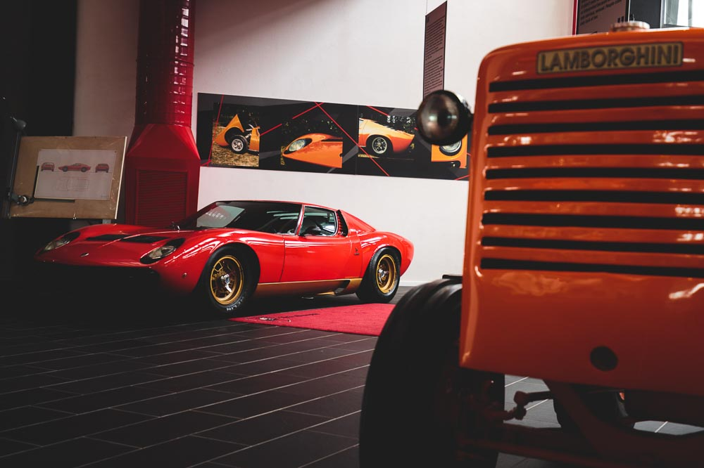 Miura at F. Lamborghini Museum - Exhibition Space