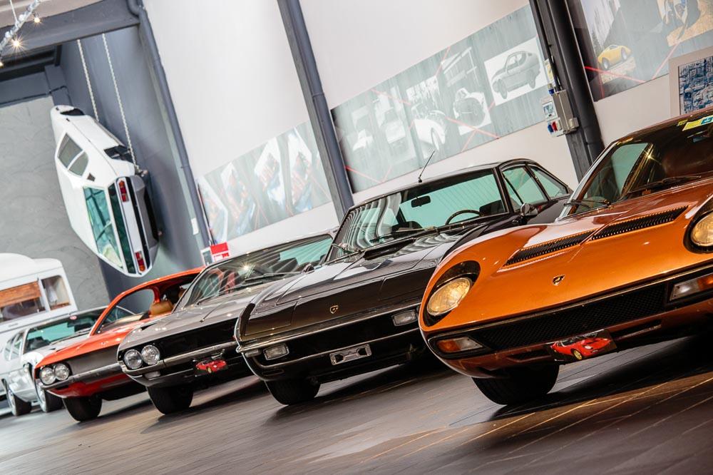 Lamborghini cars exhibition at F. Lamborghini Museum