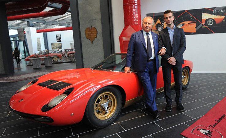 Tonino Lamborghini and Ferruccio at F. Lamborghini Museum