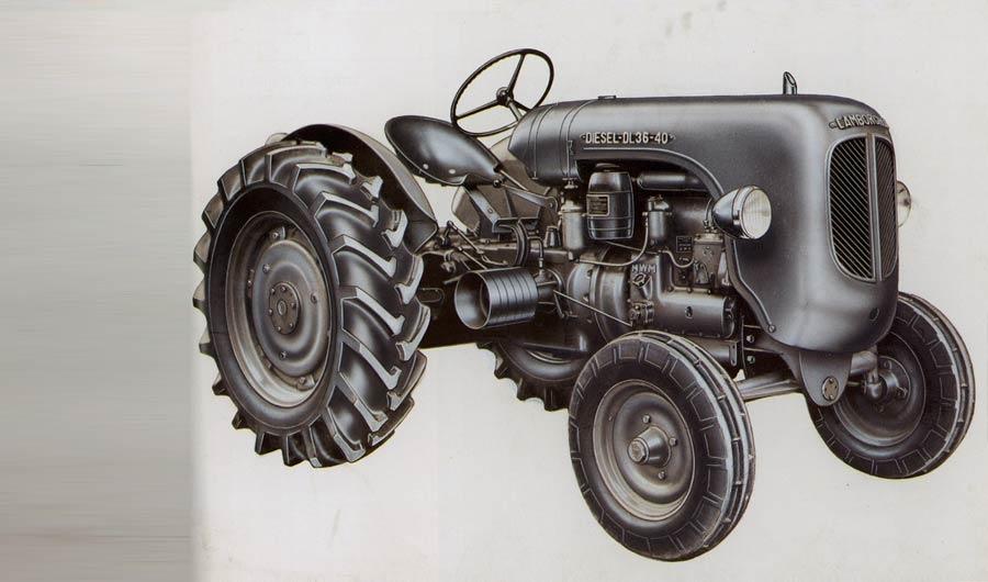 Ancient Lamborghini Diesel Tractor