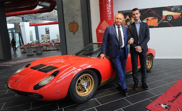 Tonino Lamborghini and Ferruccio at F. Lamborghini Museum