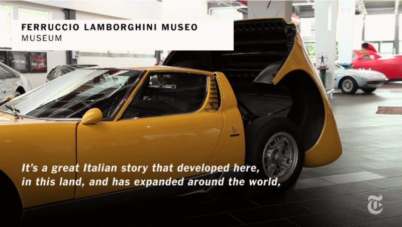 Ferruccio Lamborghini Museum - New York Times Story