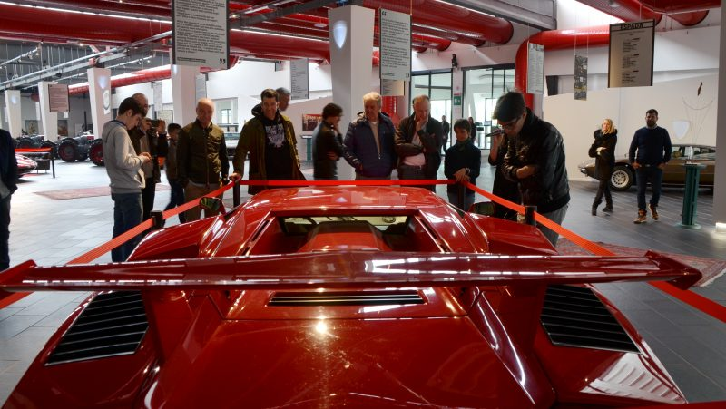 Visitors at F. Lamborghini Museum