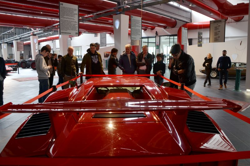 Visitors at F. Lamborghini Museum