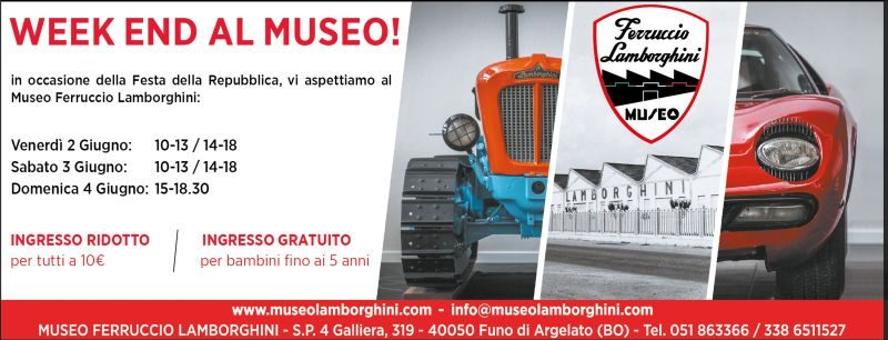 Week end al Museo Ferruccio Lamborghini