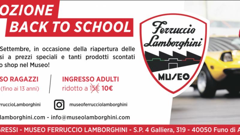 Promozione Back To School - Museo Ferruccio Lamborghini